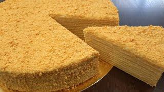 Торт МЕДОВИК по быстрому рецепту Простой рецепт самого популярного торта Медовый торт к чаю