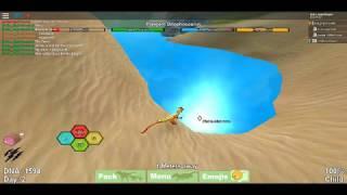 Dinosaur Battles! 3 Dilophsaurus vs 1 Triceratops (Roblox Version)