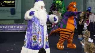 Новогодний детский праздник в фитнес-клубе «Аллигатор»