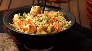 Prawn Fried Rice Recipe   Easy Chinese Food At Home