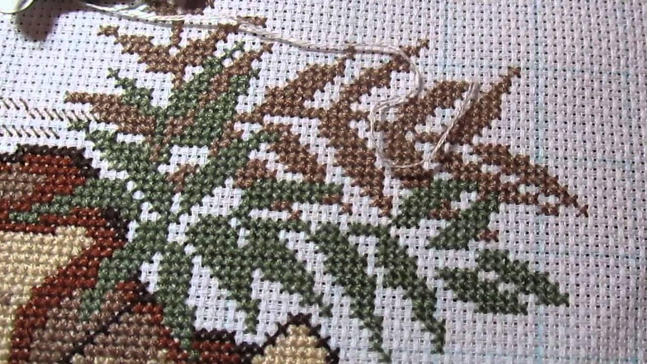 Вышивка крестом фазаны