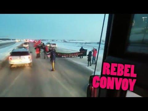 Antifa Tries to Blockade Ottawa-bound Pro-Pipeline Convoy outside Winnipeg  | Keean Bexte