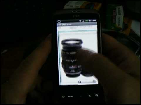 Ebay App On Android (HTC Desire Mobile Phone)