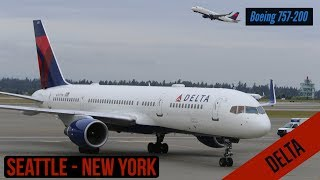 Seattle New York - Delta - Boeing 757