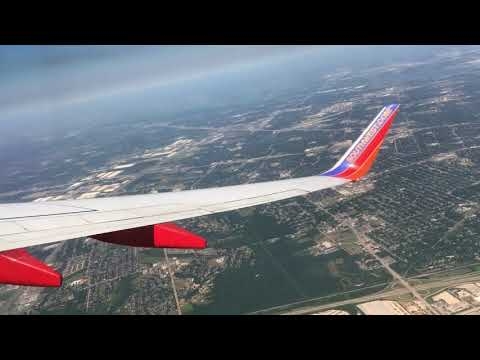 Take off from Dallas Love Field (great view of downtown Dallas) on Southwest Airlines Flight 12