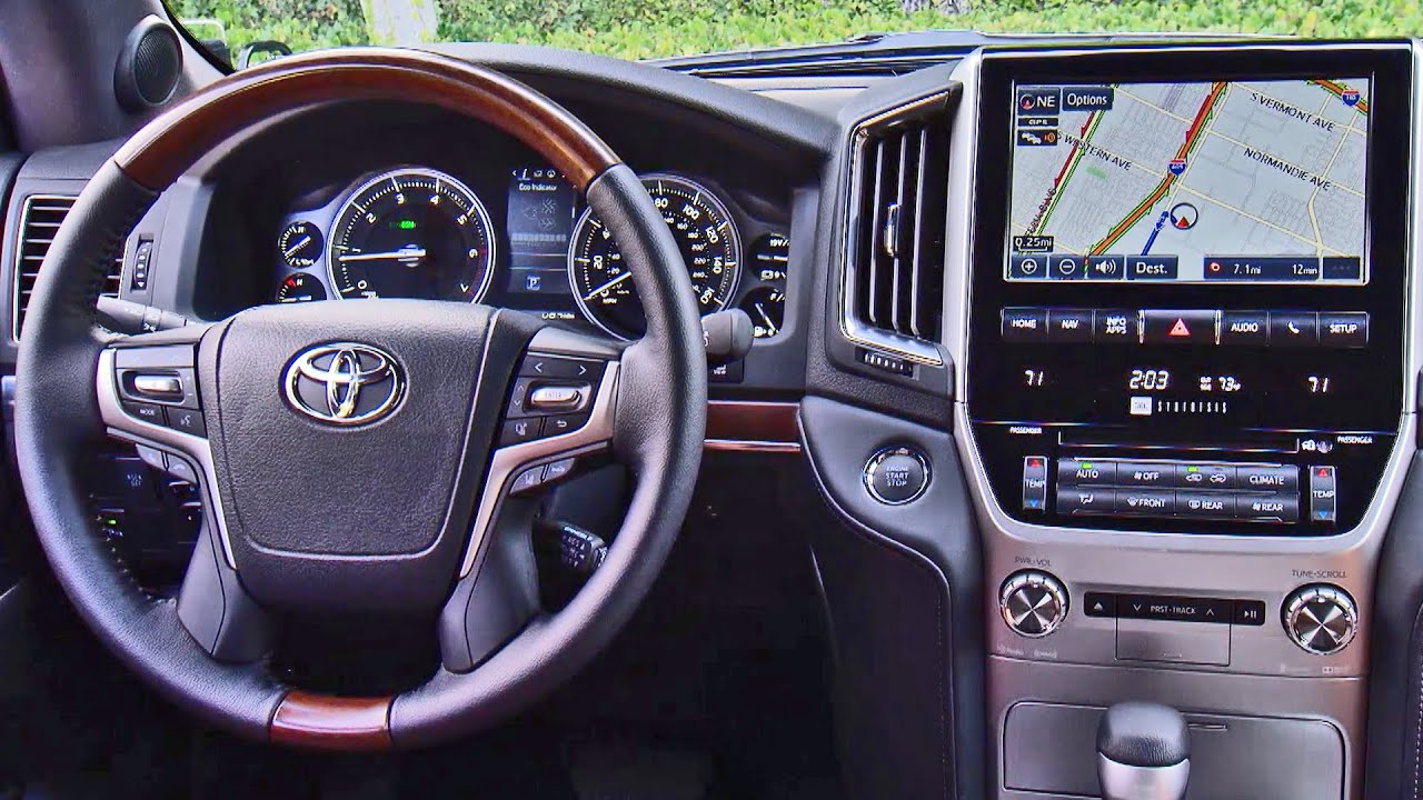 2016 Toyota Land Cruiser Interior Youtube