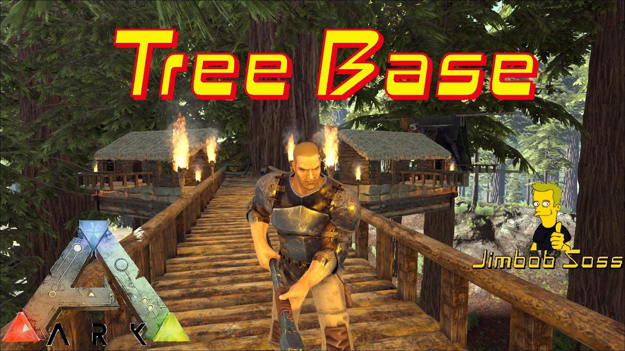 ARK Survival Tree House Base   YouTube