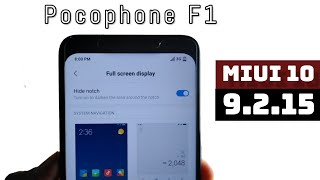 How To Use Notch In Poco F1