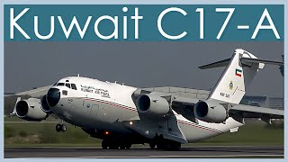 Take Off - Kuwait Air Force C-17 Globemaster/Manchester Airport