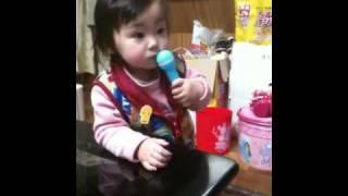 クッキンアイドルまいんちゃんの歌を歌ってるつもり。