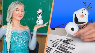 Disney Prensesleri Okulda / 10 Eğlenceli ve Yararlı Kendin Yap Tarzı Okul Malzemesi Fikri