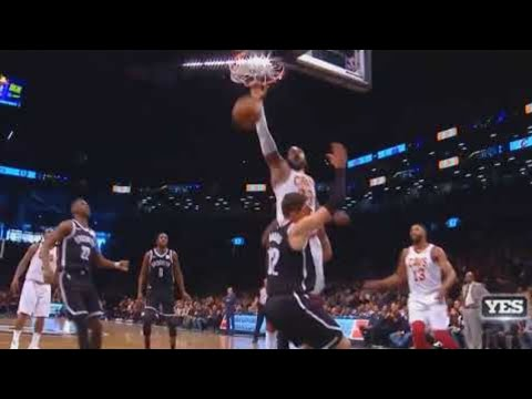 12d6ed05128 LeBron James Brings the Nets Crowd To Their Feet with Dunk on Joe Harris! Cavaliers  vs Nets