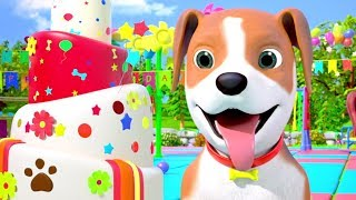 Happy Birthday Bingo Dog Song + More Nursery Rhymes for Kids | Little Treehouse
