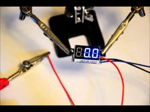 A Mini 3-Wire 0-99v Voltage Display Module - YouTube