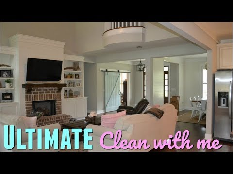 ULTIMATE CLEAN WITH ME // ENTIRE HOUSE CLEANING // WHOLE HOUSE CLEAN WITH ME 2018