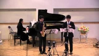 Soprano Sax 今 翔太郎 Alto Sax 工藤 利城 Piano 工藤 修子 2014.11.15...