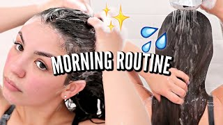 SELF CARE MORNING ROUTINE | Rice Water, Workout Routine, Hair Care and Skin Care