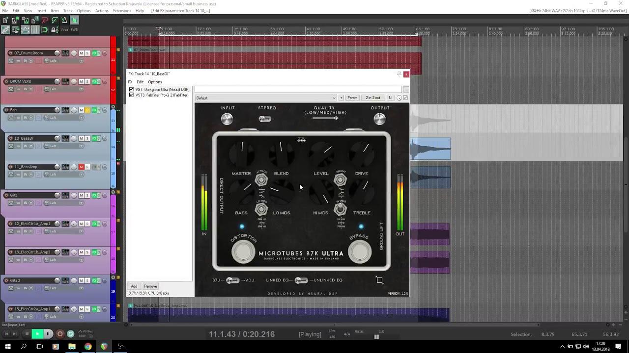 Darkglass Ultra Plugins VST Bass Test