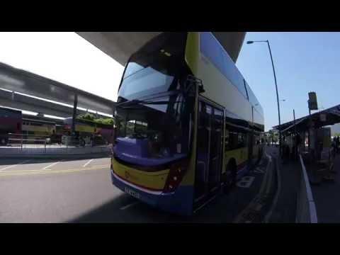 สนุกมาก!!.Ride on Bus S1 from Hong Kong Airport to Citygate Outlets.MTR .Full Road Tripเจริญศรี มิตร