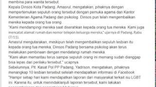 video 10 Lesbian yang Ditangkap di Padang Dibina Dinsos