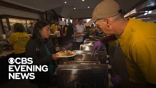 California wildfire victims and first responders celebrate Thanksgiving