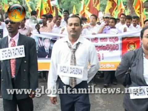 JHU PROTEST in front of UN office in Colombo UN Office.wmv