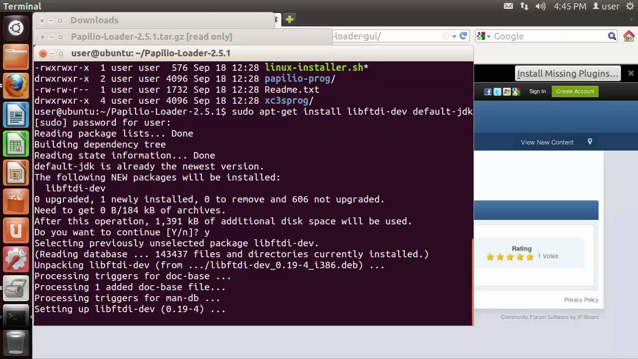 Install Papilio Loader on Linux | Gadget Factory Learning Site