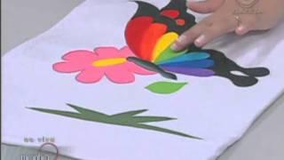 Pintura em camiseta - Artesanato - Acrilex
