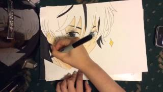 Hello sorry my copic ink pen ran out on harus hair so i had to improvise with my pencil anyway i hope you all enjoy the video The copics i used are: E00 and E21 ...