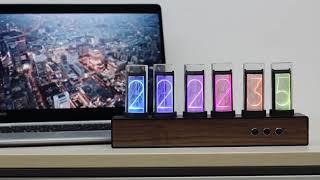 디지털 탁상시계 엔틱 특이한 빈티지 인테리어 진공관시계