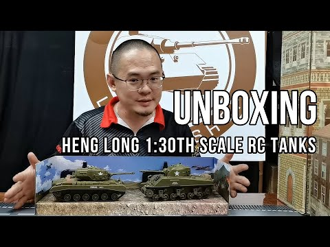 UNBOXING Heng Long 1/30th scale RC Tanks!