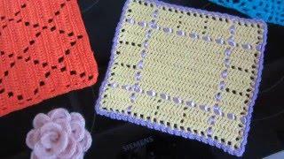 Декоративные элементы в технике вязания крючком(Декоративные элементы, связанные крючком. Могут использоваться в качестве салфетки, прихватки для кухни,..., 2016-04-27T17:07:18.000Z)
