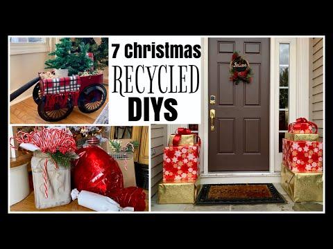 7 RECYCLED Christmas DIYs