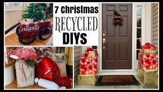 7 RECYCLED Christmas DIYs