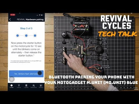 Bluetooth Pairing Your Phone with Your Motogadget m.Unit (mo.Unit) Blue // Revival Tech Talk