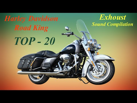 Harley Davidson Road King best exhaust sounds. Top 20