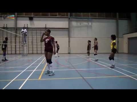Volleyball Female Superior Stakamahachi vs Hurracane 25 02 2015 by miv.tv curacao