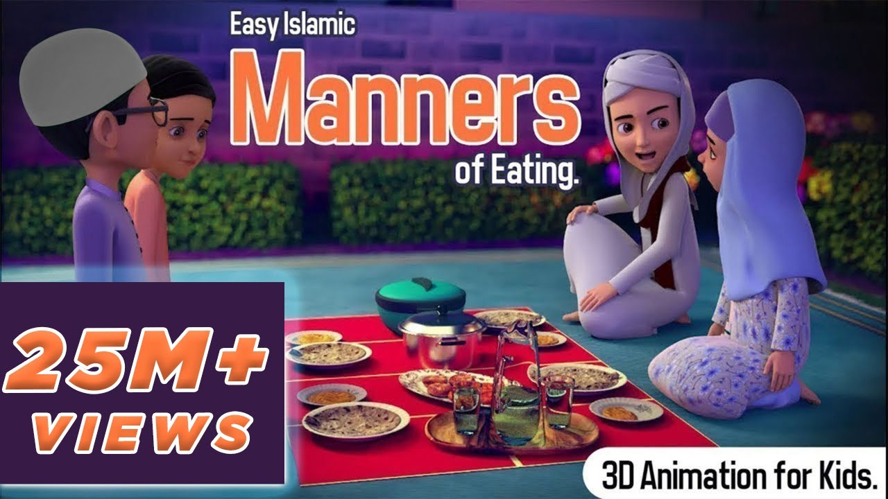 Ghulam Rasool Explains the Easy Islamic Manners of Eating | 3D Animation | Kids Land
