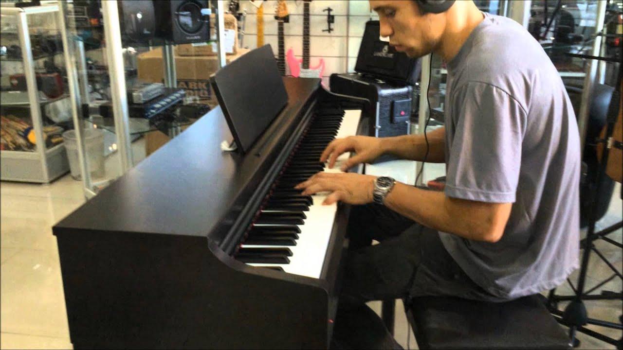 loja ney som piano yamaha clavinova clp 525 demonstra o youtube. Black Bedroom Furniture Sets. Home Design Ideas