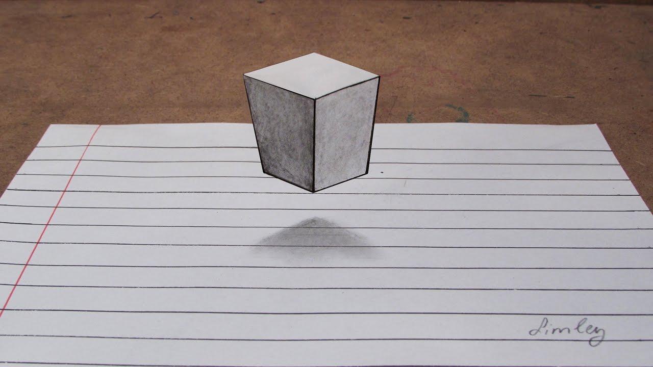 Basit 3d Küp çizimi Kendin Yap Youtube