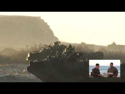 Marines assault beach - Exercise Steel Knight Live Coverage (Part 1)