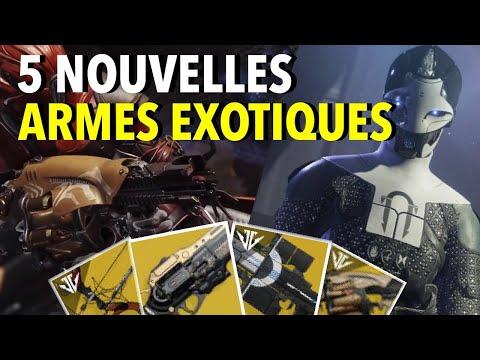 DESTINY 2 : DÉTAILS SUR LES 5 NOUVELLES ARMES EXOTIQUE (ARSENAL SOMBRE) thumbnail