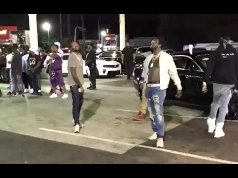 Meek Mill Rick Ross Gucci Man & 2 Chainz Turn Up At Gas Station In ATL