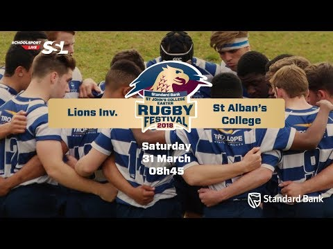 St Johns Rugby Festival 2018 - Lions Inv vs St Alban's College, 31 March
