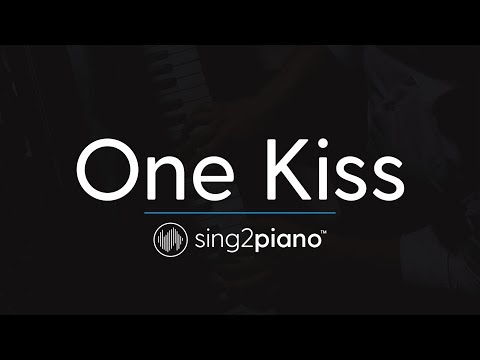 One Kiss Piano Karaoke Instrumental Calvin Harris & Dua Lipa