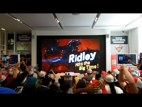 Ridley Reveal for Super Smash Bros. Ultimate Live Reactions at Nintendo NY