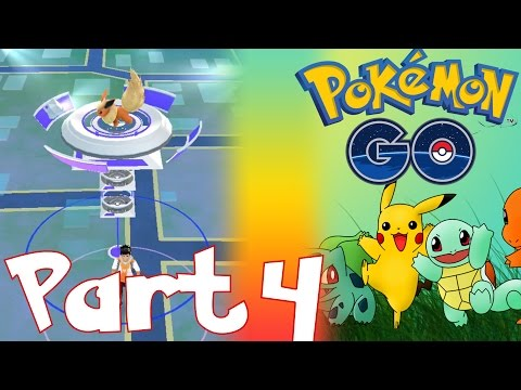HOW TO GET FREE POKECOINS IN POKEMON GO, HOW TO BATTLE POKEMON GO GYM | LET'S PLAY POKEMON GO PART 4