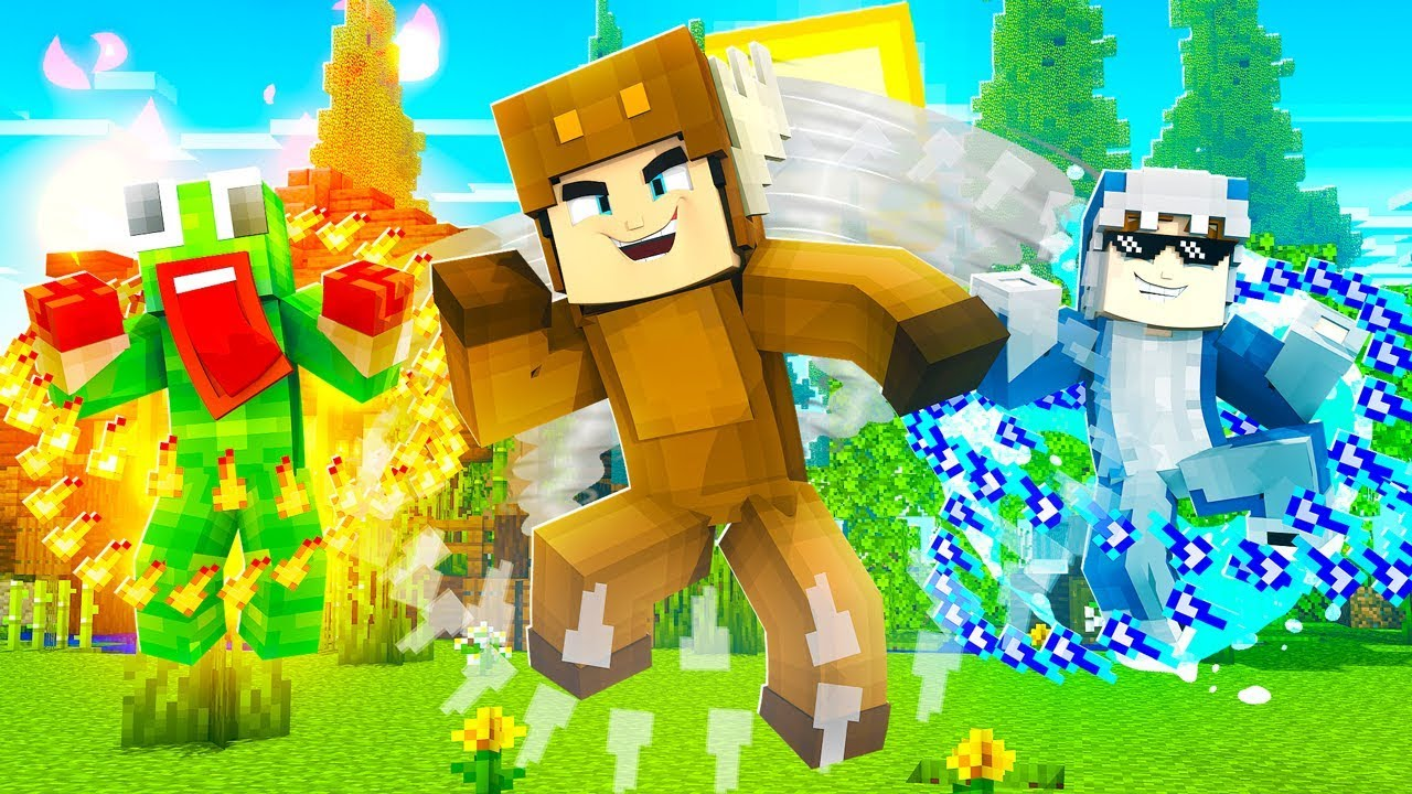 UNSPEAKABLE, SHARK and MOOSE BECOME ELEMENTAL BENDERS in MINECRAFT!