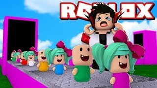WIIZINHO BUILT A FACTORY OF CRAZY BABIES IN ROBLOX! Baby Tycoon