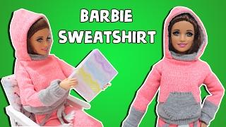 Barbie Sweatshirt Yapımı - DIY Barbie Kıyafetleri - Eğlenceli Çocuk Videosu
